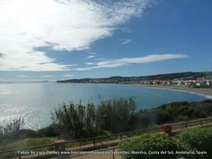 View of the coastline from La Perla de la Bahia, Casares to Sabinillas and La Duquesa Beaches