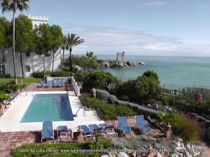 View from the master bedroom at La Perla de la Bahia