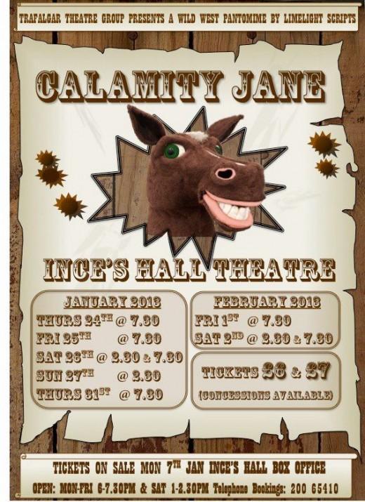 Calamity Jane Pantomime in Gibraltar