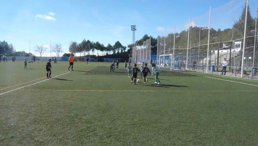 Football in Manilva, Spain in February