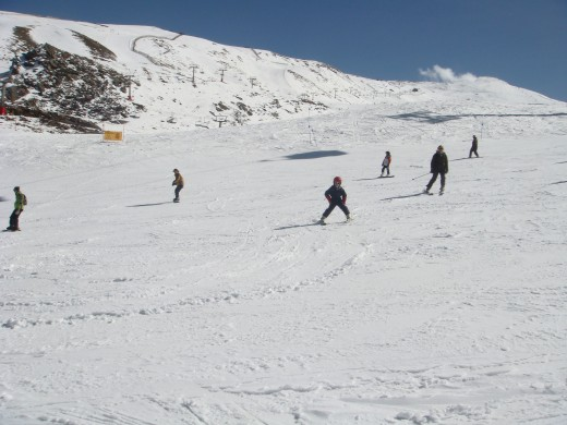 Skiing in Sierra Nevada, Spain