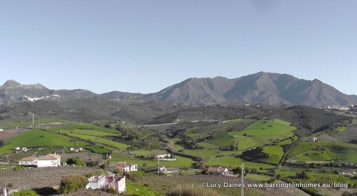 The view from Manilva to Casares in Spring