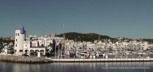 blue skies at Puerto de la Duquesa, Manilva, Costa del Sol, Andalucia, Spain