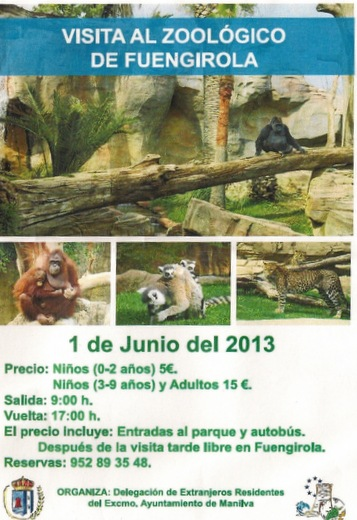 Manilva foreign residents day trip to Fuengirola Zoo