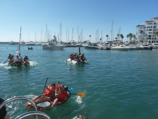 Raft Race Puerto de La Duquesa, Manilva, Costa del Sol, Spain