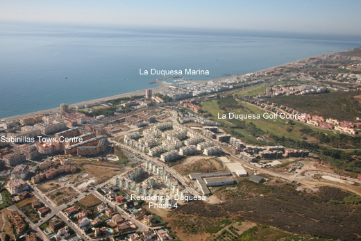 Aerial View of Residencial Duquesa Manilva Costa del Sol Spain