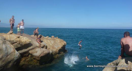 Rock Jumping in Manilva