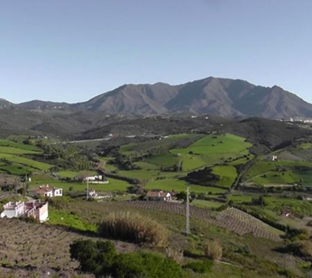 View from Manilva Village to Casares, Malaga Province, Andalucia, Spain