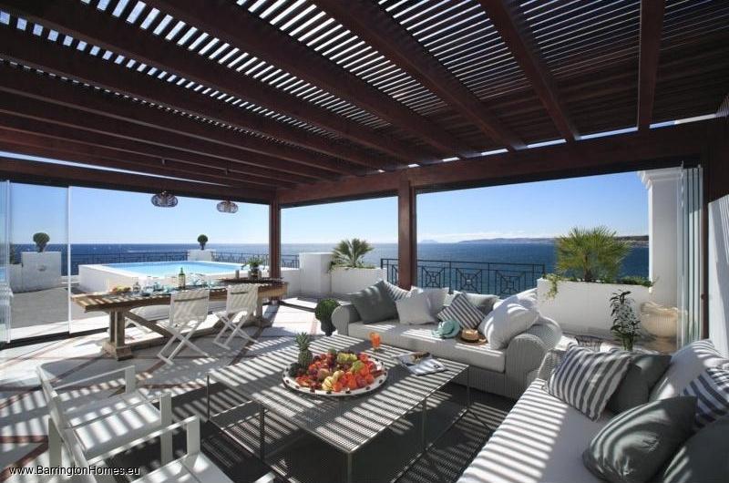1, 2 & 3 Bedroom Apartments, Doncella Beach, Estepona. Penthouse terrace, Doncella beach, Estepona